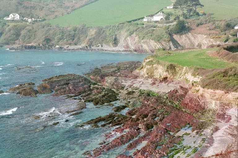 Colour effects in rocks, Talland Bay